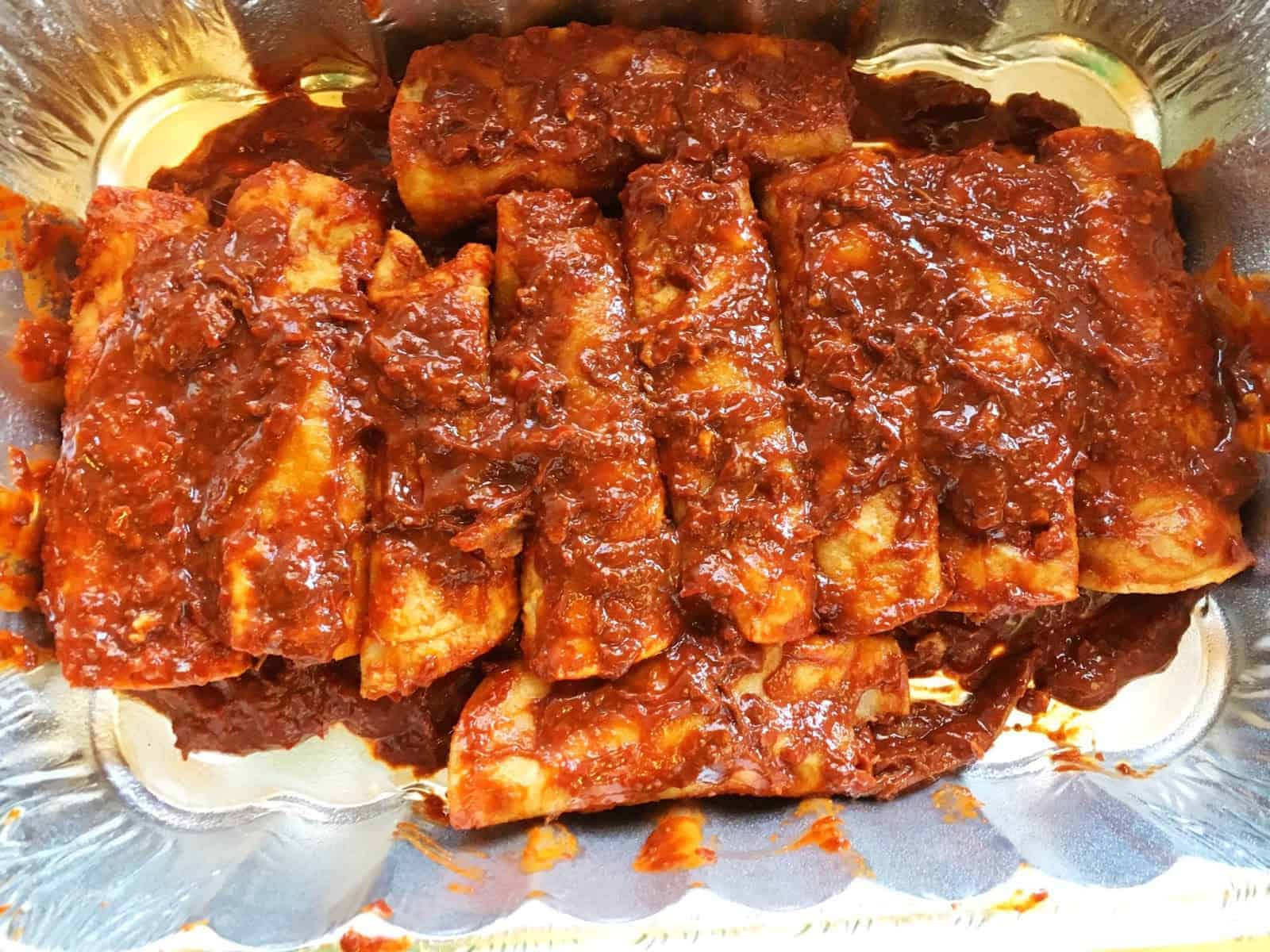 Red Chile Pork Enchiladas