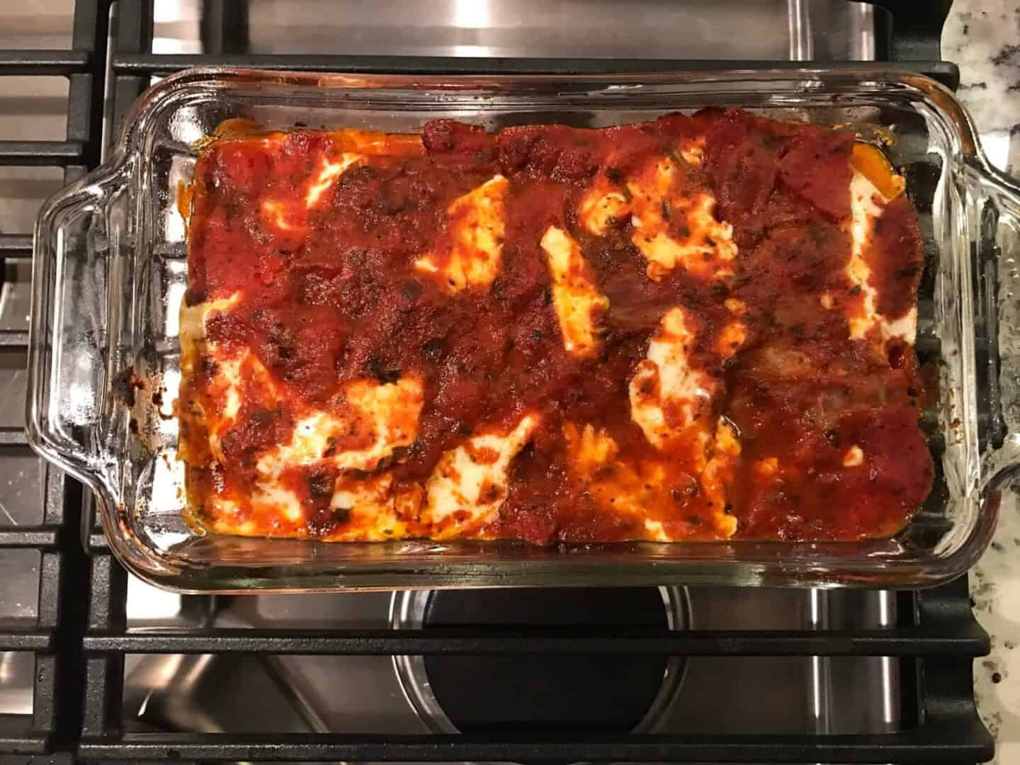 Light and Easy Eggplant Parmesan