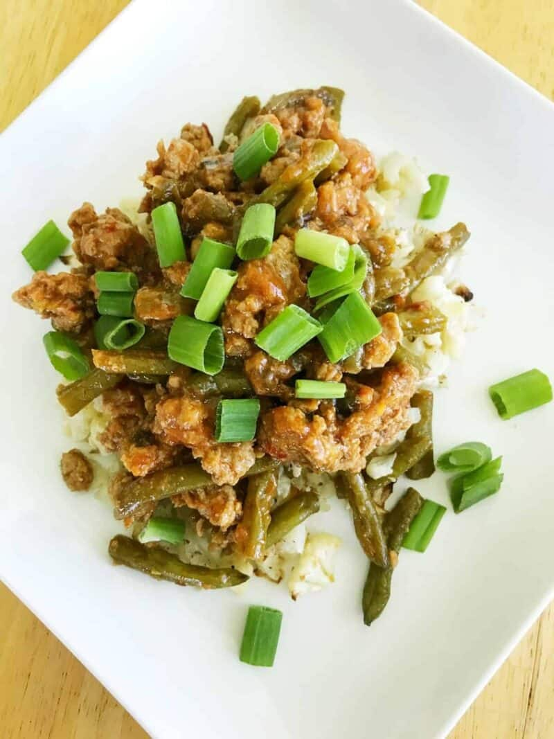 spicy turkey and green bean stir fry