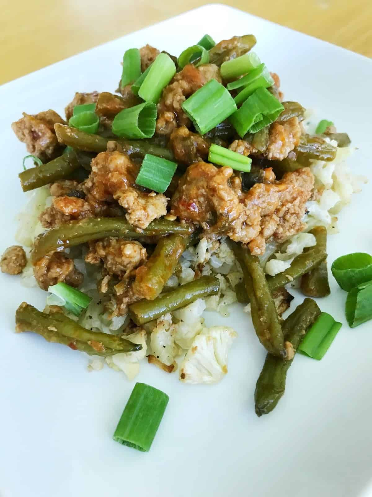 Sweet and Spicy Green Bean and Turkey Stir Fry