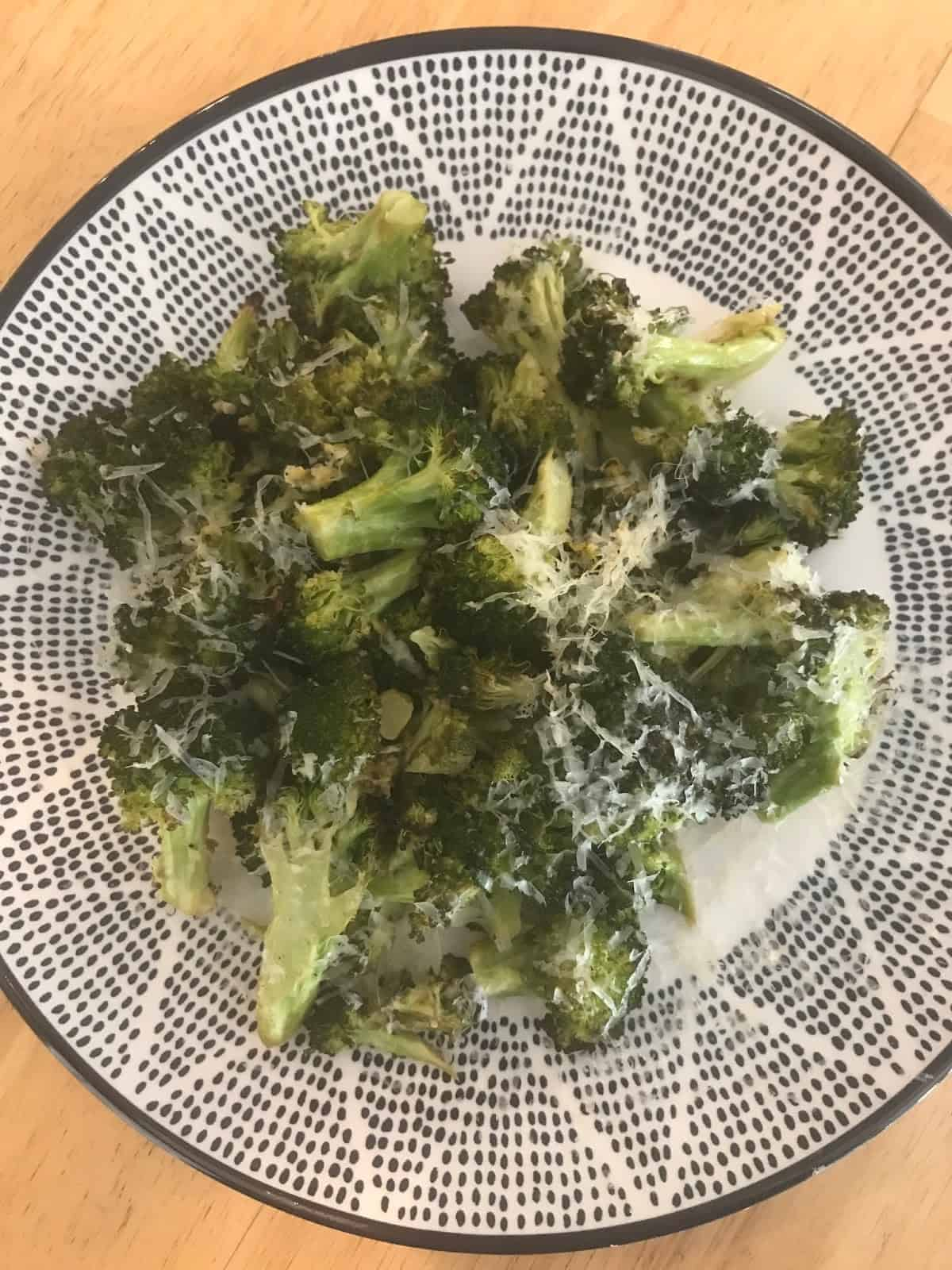 Lemon-Parmesan Roasted Broccoli + A Trip to the Pool