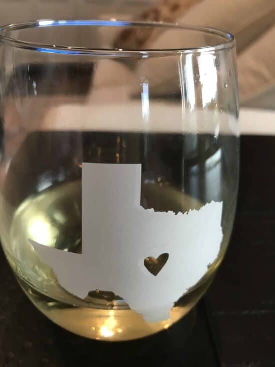texas wine glass