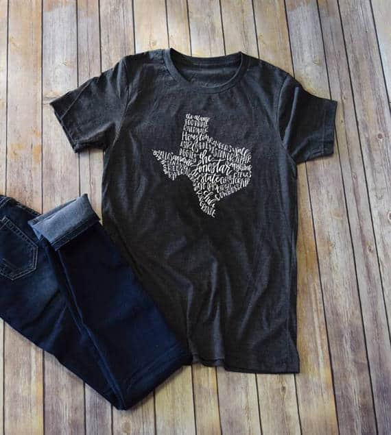 doodles by rebekah texas strong tshirt