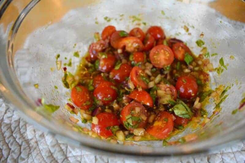 Tuscan Chicken Cakes Tomato Basil Relish