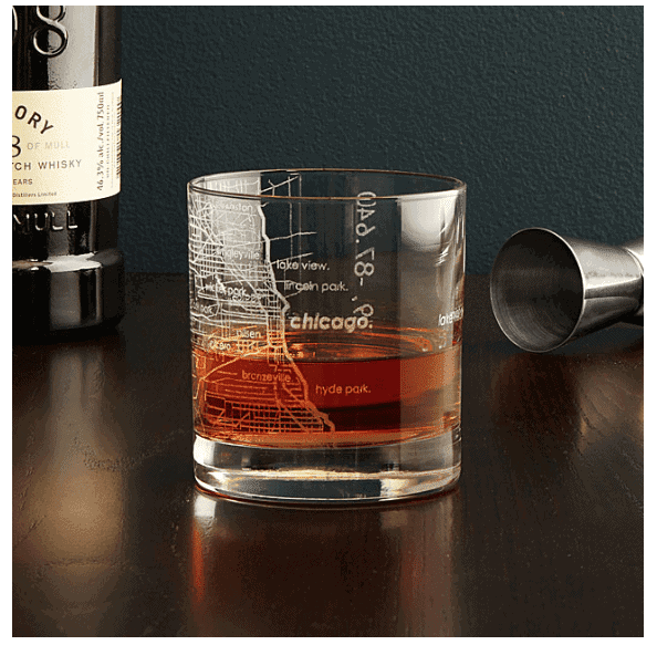 city map glass uncommon goods