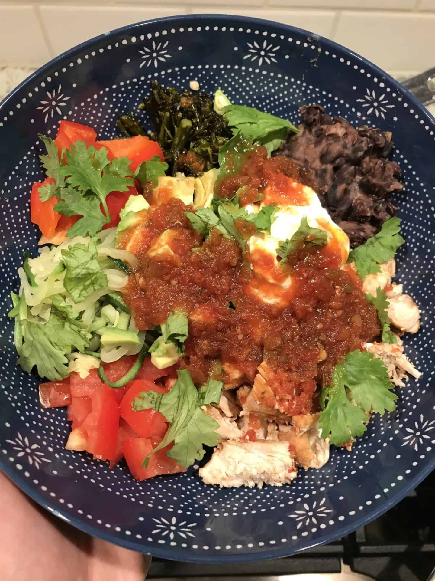 salsa crazy chicken bowls