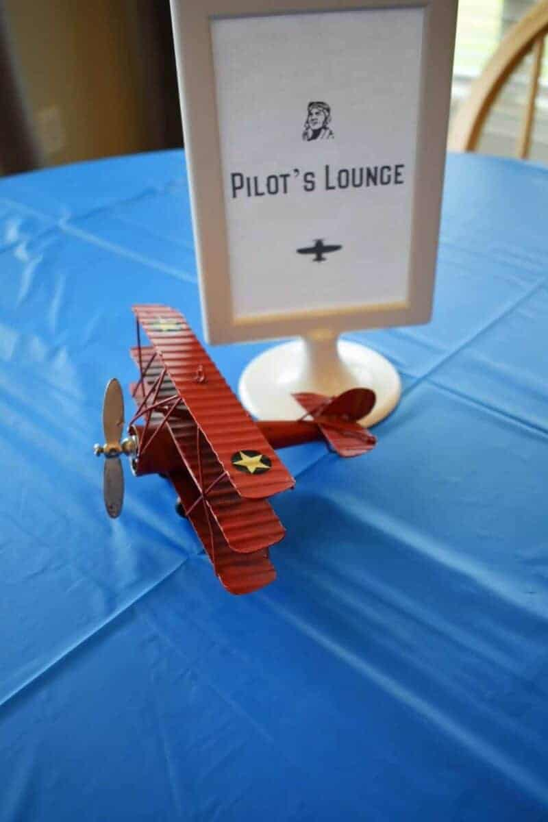 aviator vintage airplane party