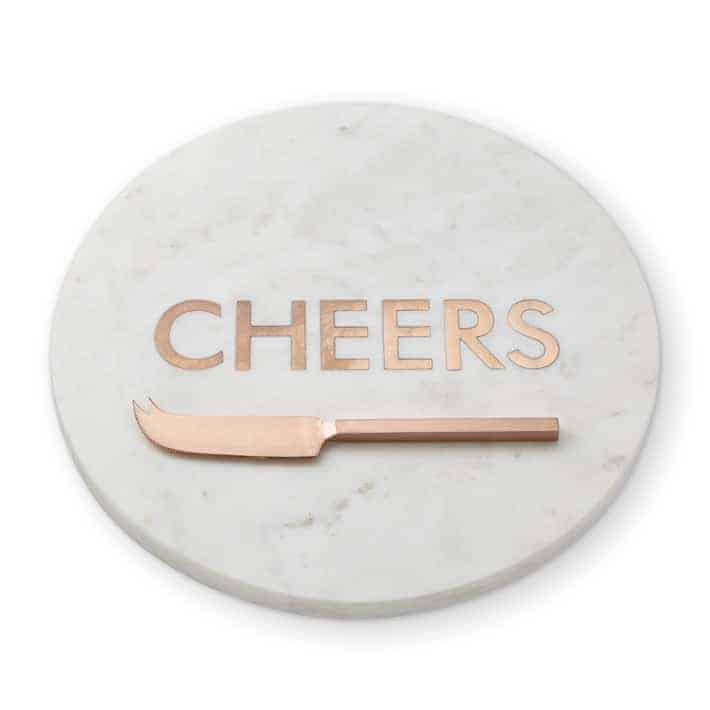 Williams Sonoma Marble and Copper Board with Knife