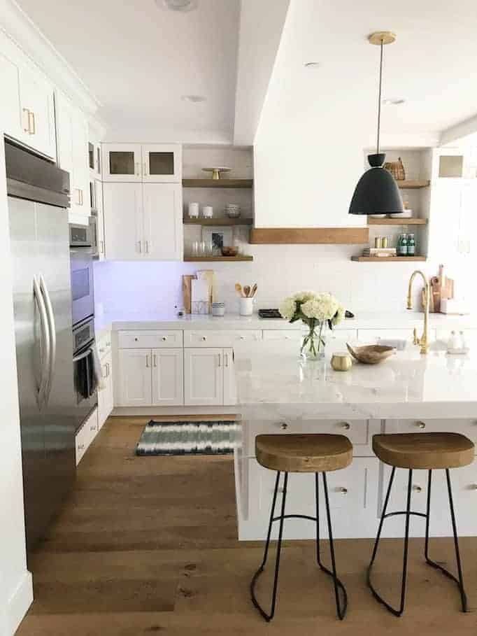 becki owens white wood kitchen