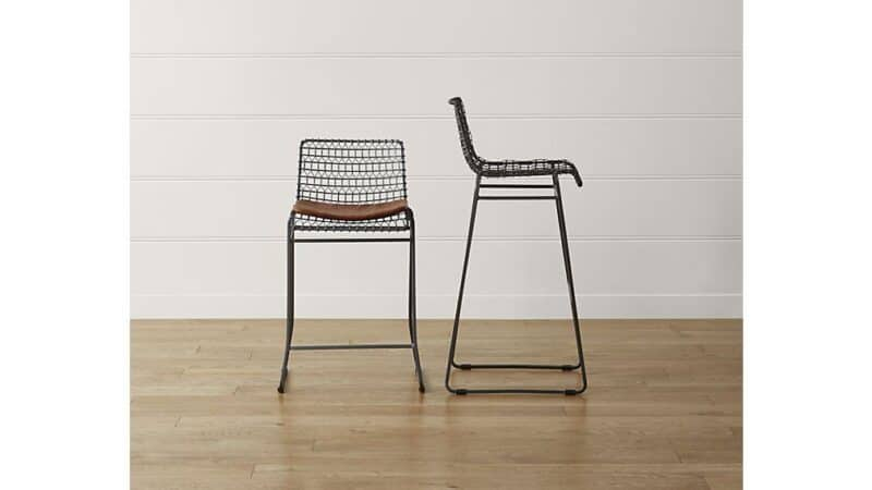 tig metal bar stool crate and barrel
