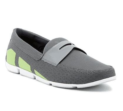 swims penny loafer steel green
