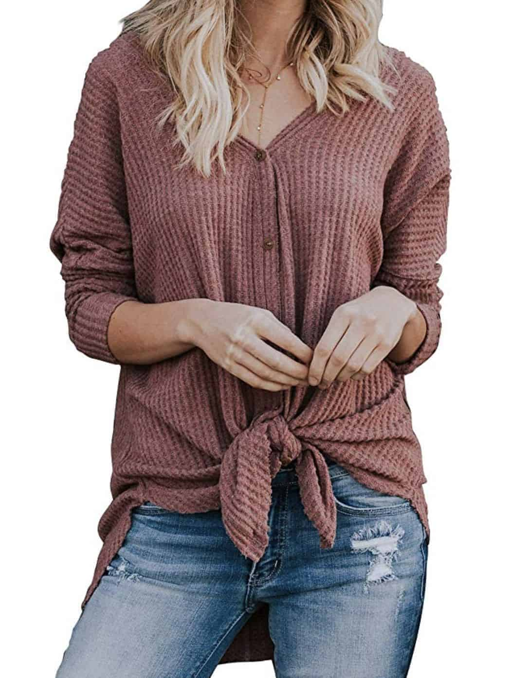 Miholl Tie Front Blouse