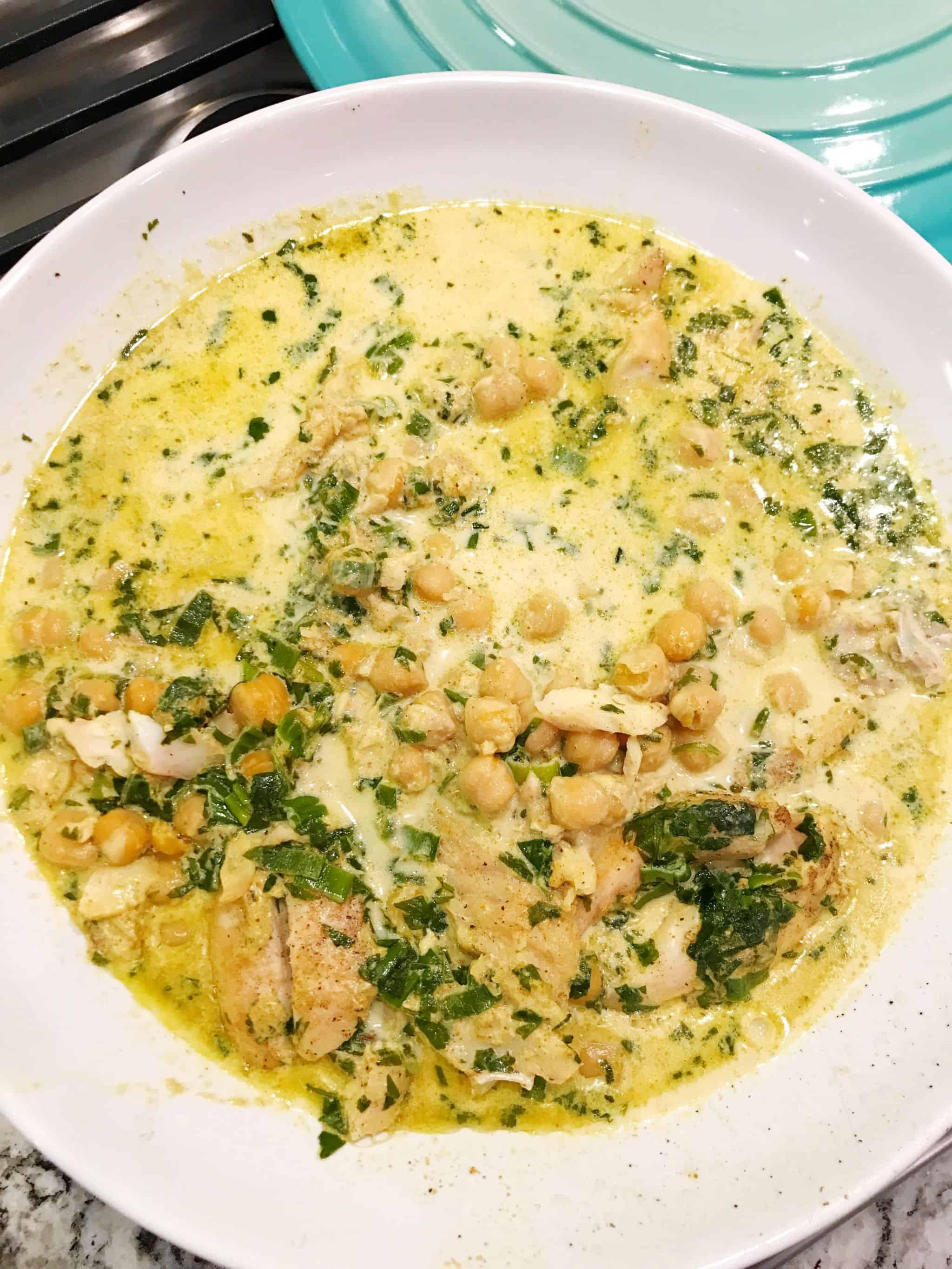 Creamy Curried Fish