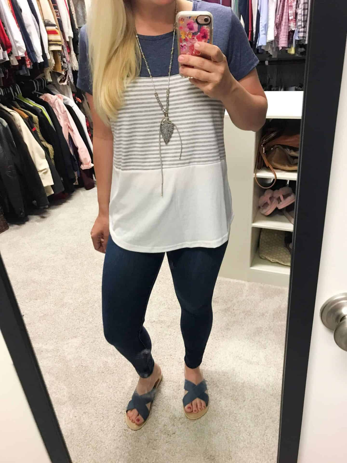 Color Blocked Striped T Shirt Amazon