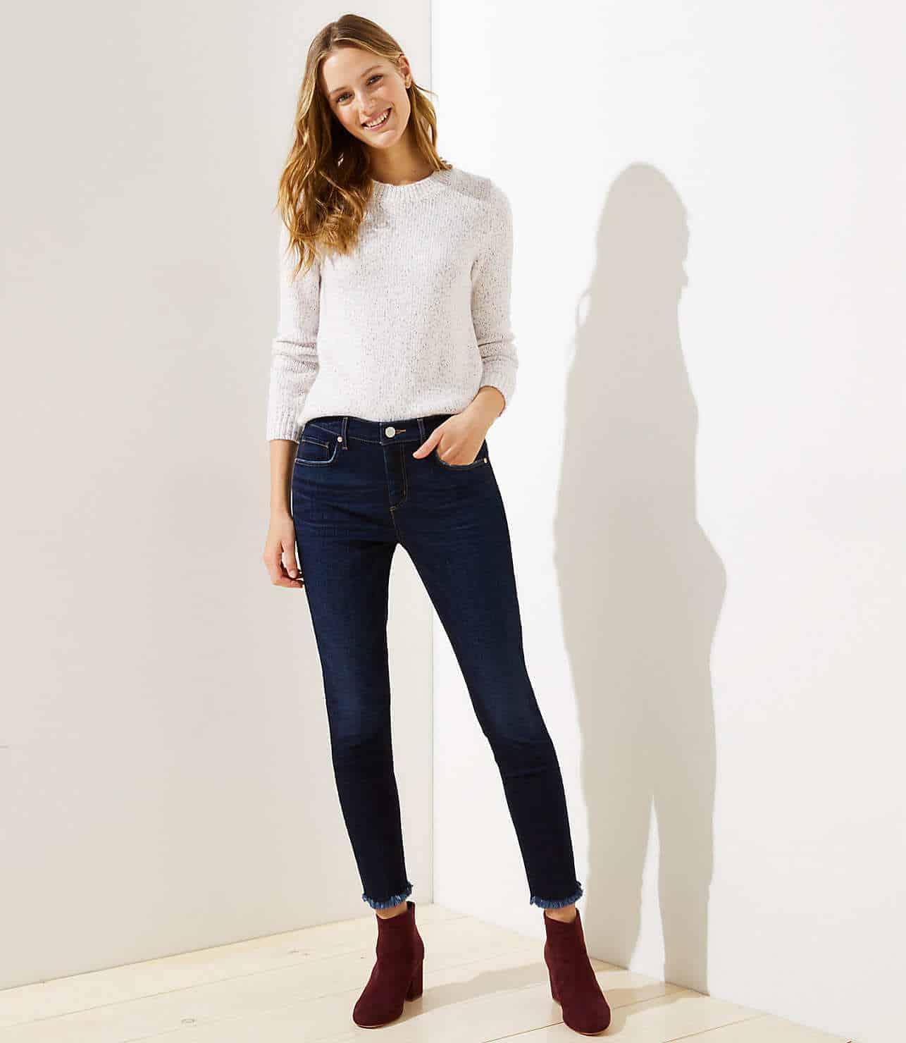 modern slim pocket skinny jeans in dark indigo