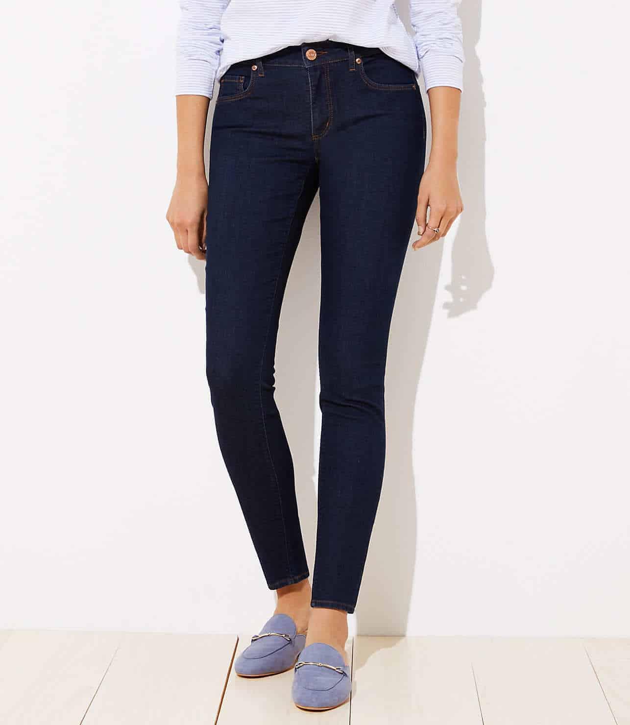 skinny jeans in dark wash