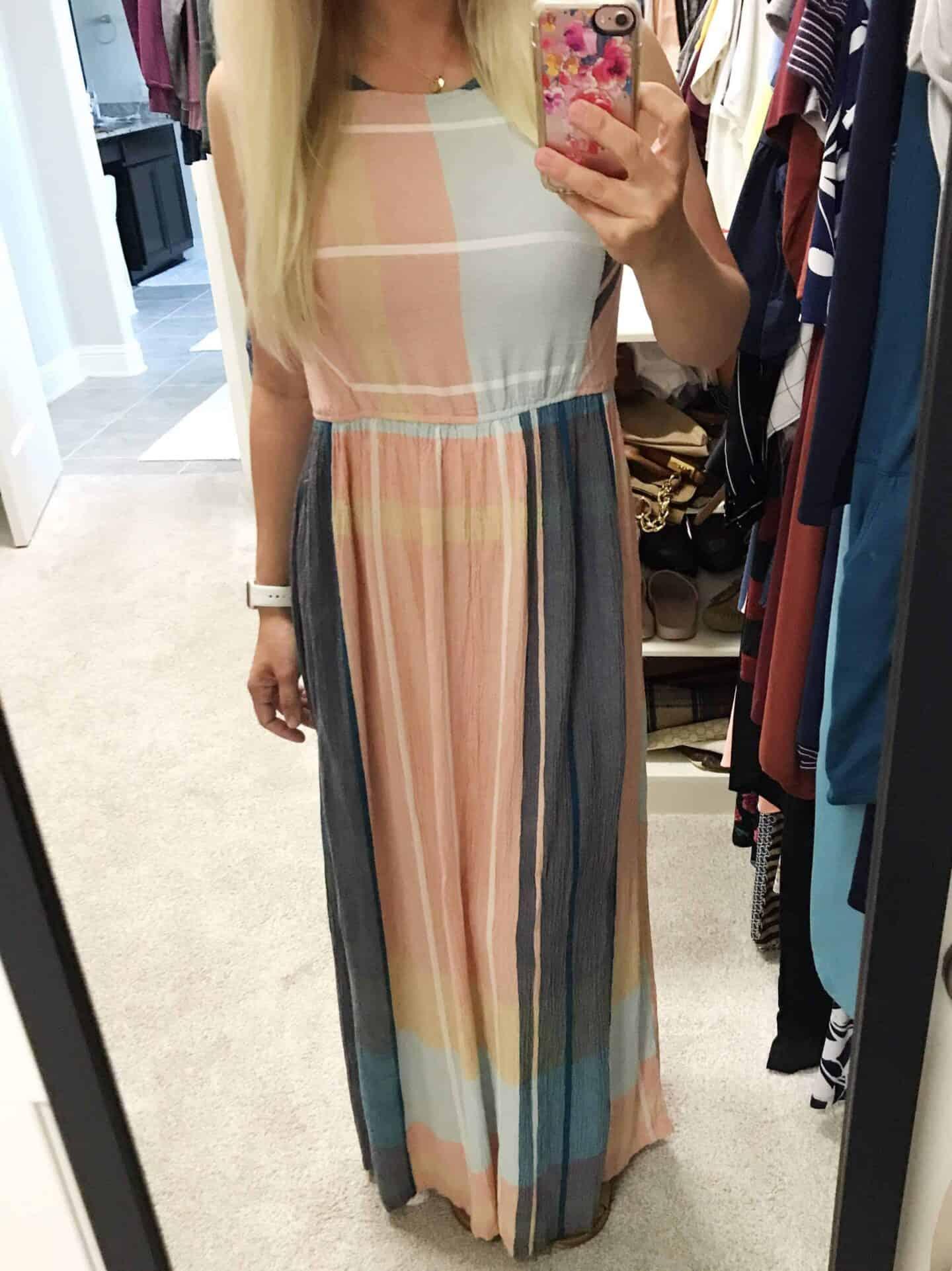 Caslon Smocked Maxi Dress