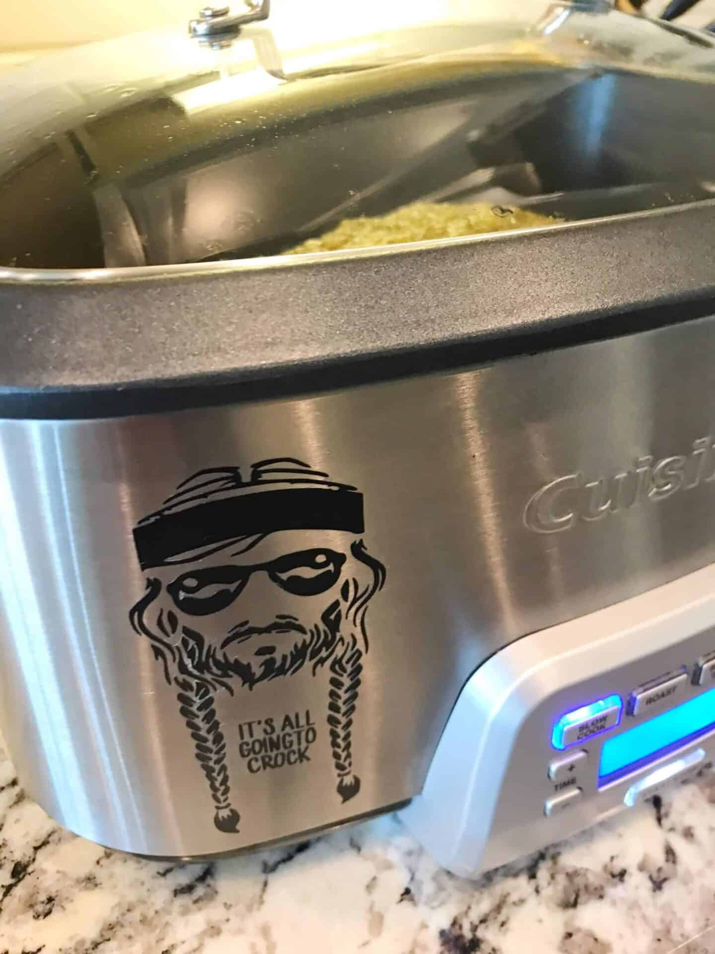 Willie and Lilly Crock Pot Decal
