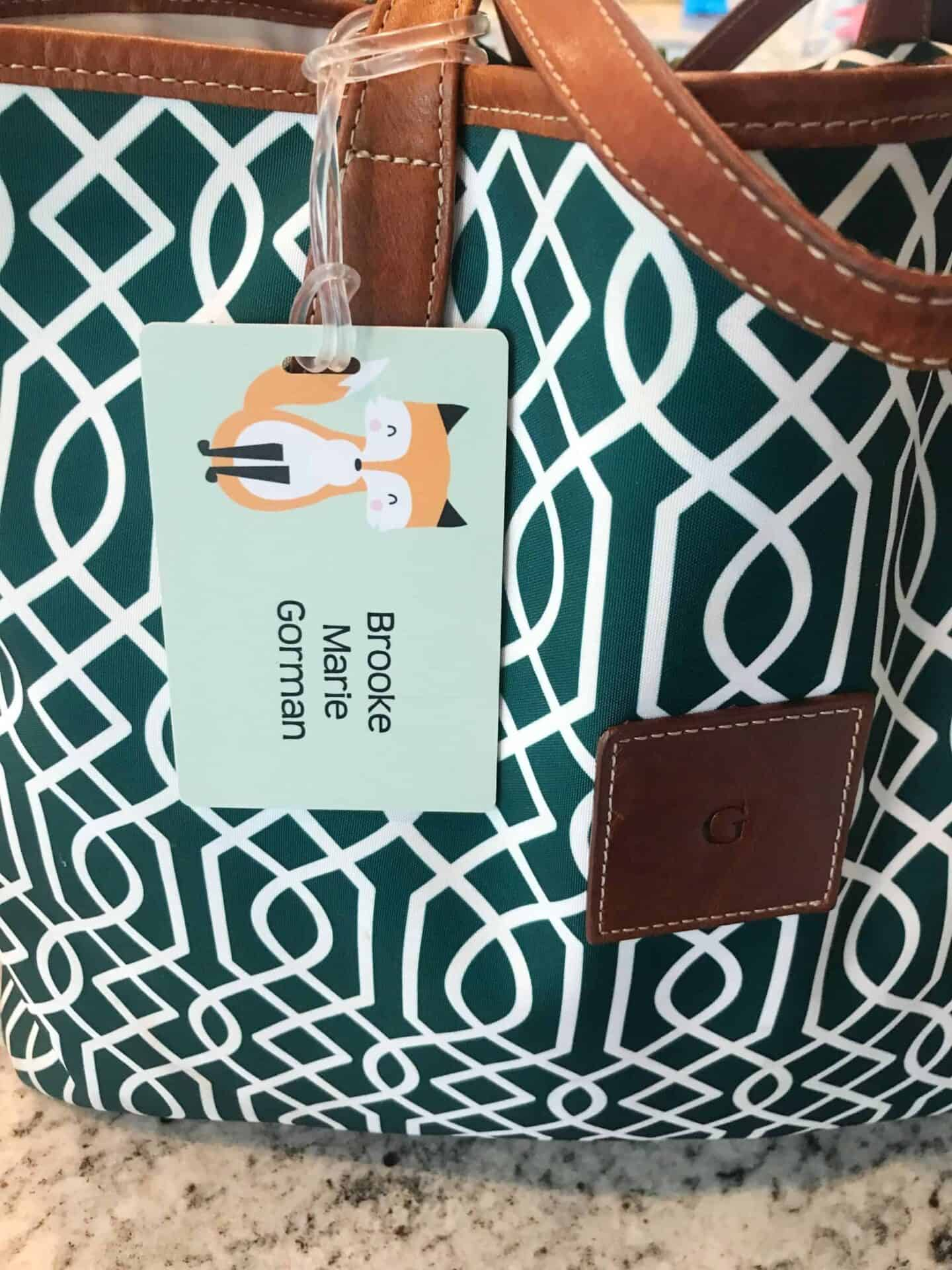 InchBug Bag Tag Back to School