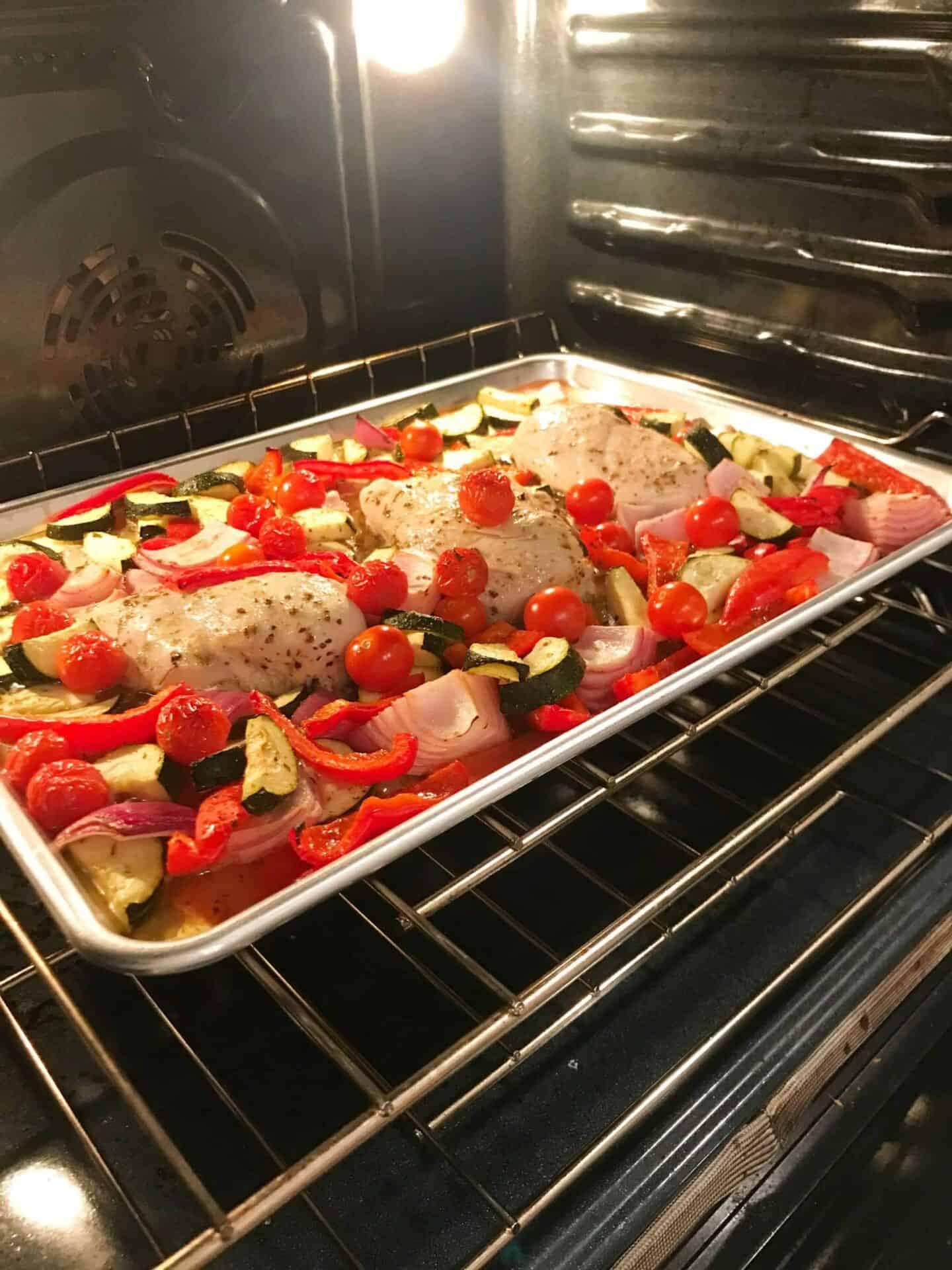 Greek Chicken Sheet Pan Bake