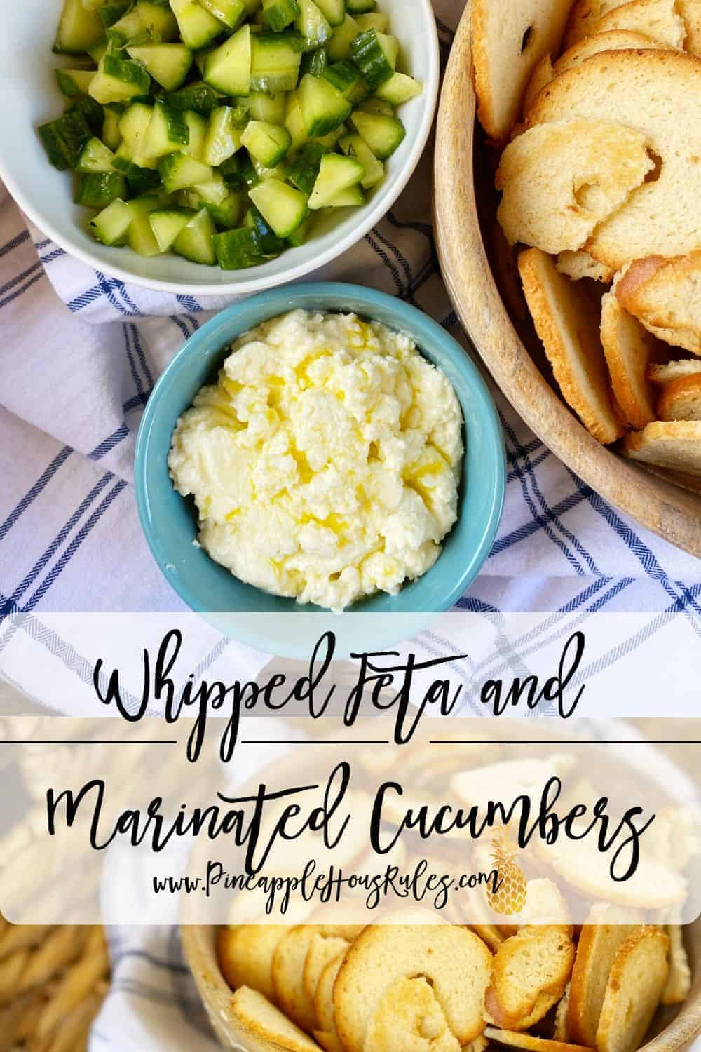 Whipped-Feta-with-Marinated-Cucumbers