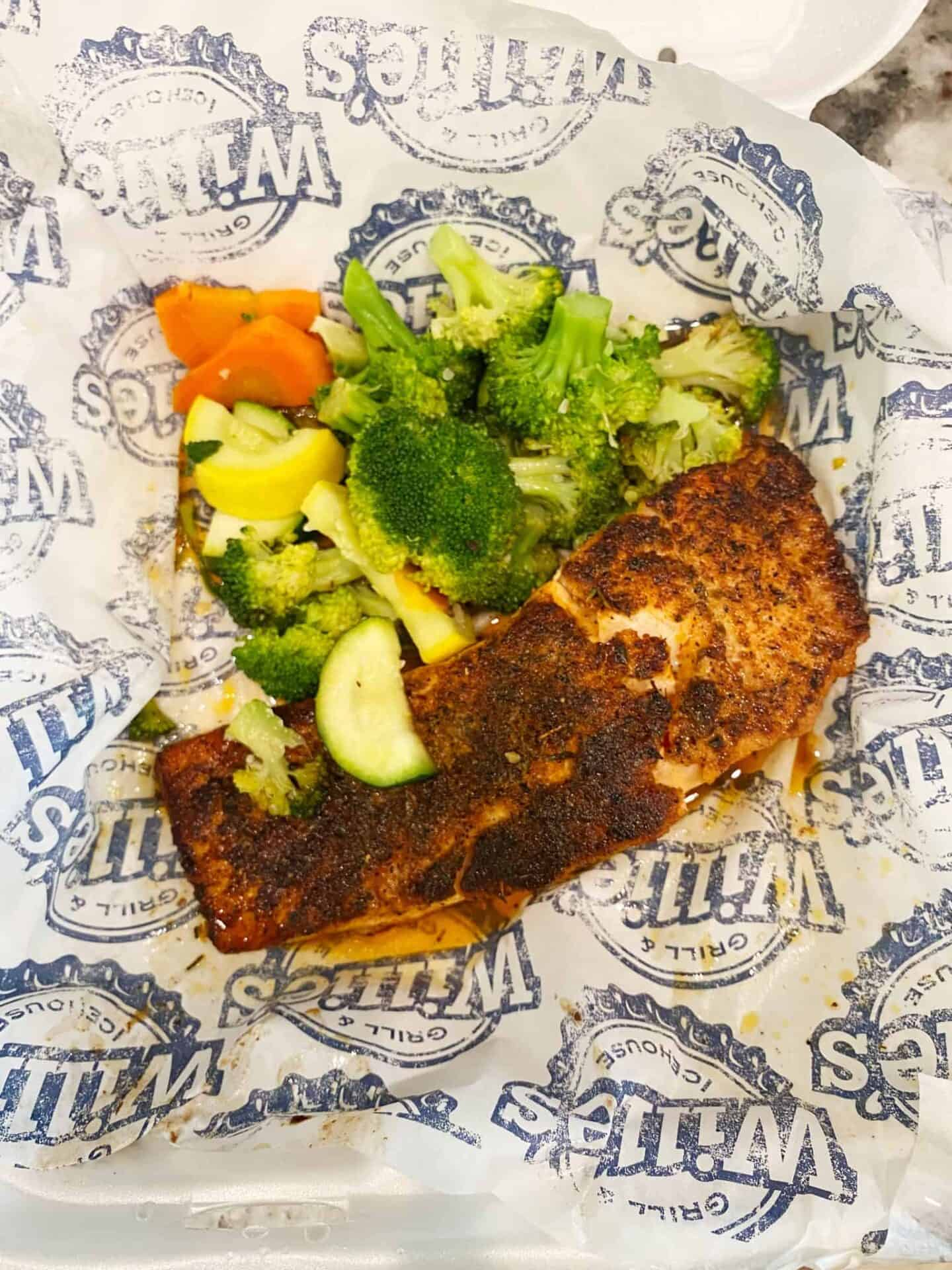 Willie's Grill and Icehouse Blackened Salmon