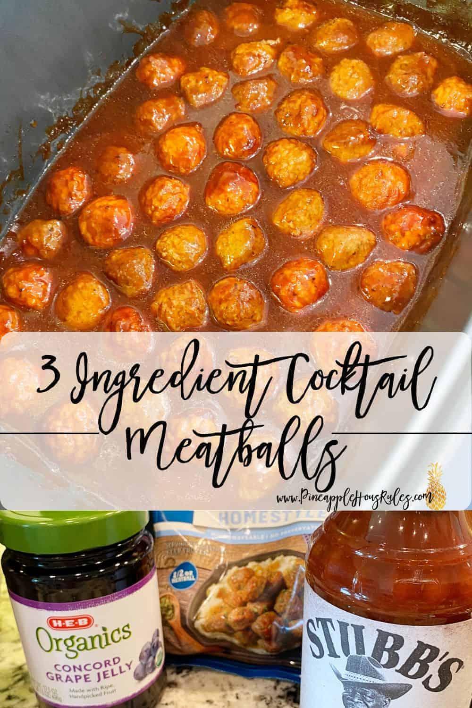 Three Ingredient Cocktail Meatballs