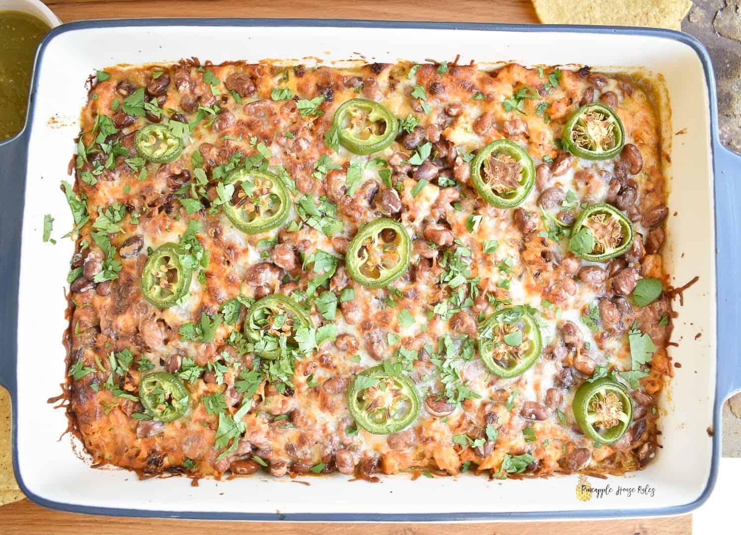 Salsa-Verde-Chicken-Tostada-Casserole-1