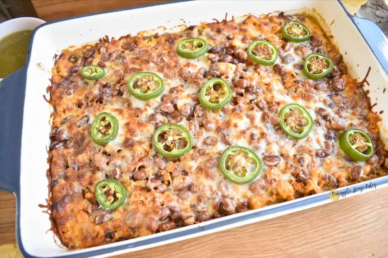 Salsa-Verde-Chicken-Tostada-Casserole-easy-recipe